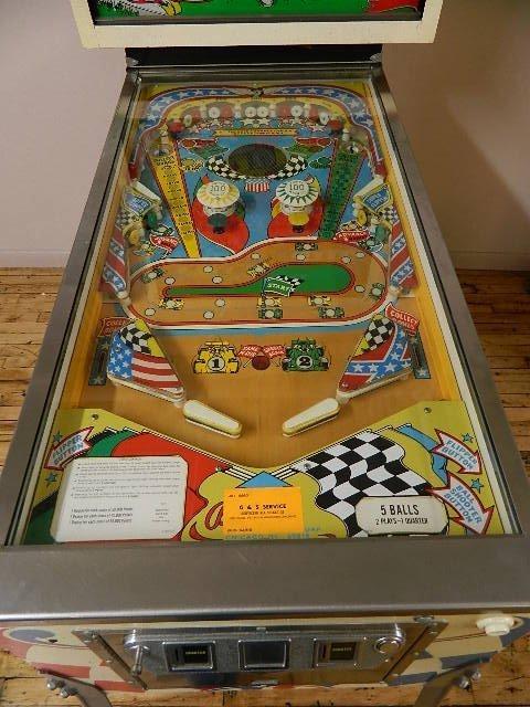 Bally Indy Car Twin Win Pinball Machine - 8