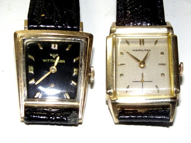 Wittnauer And Hamilton Mens Wristwatches