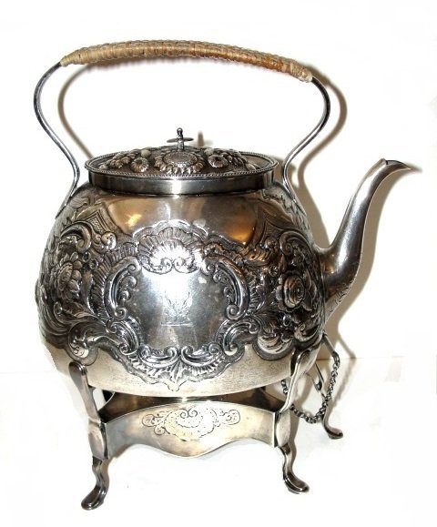 English  19th. C. Spirit Kettle With Stand
