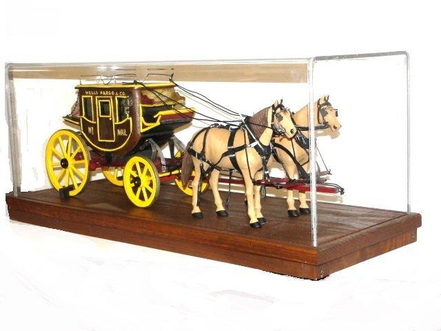 Wells Fargo Overland Stagecoach Model In Case
