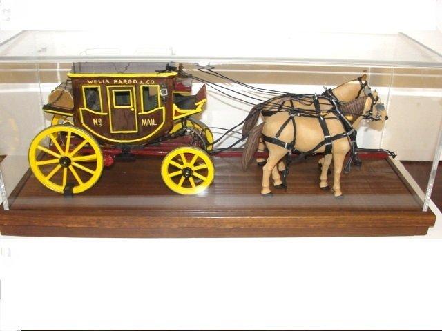 Wells Fargo Overland Stagecoach Model In Case - 2