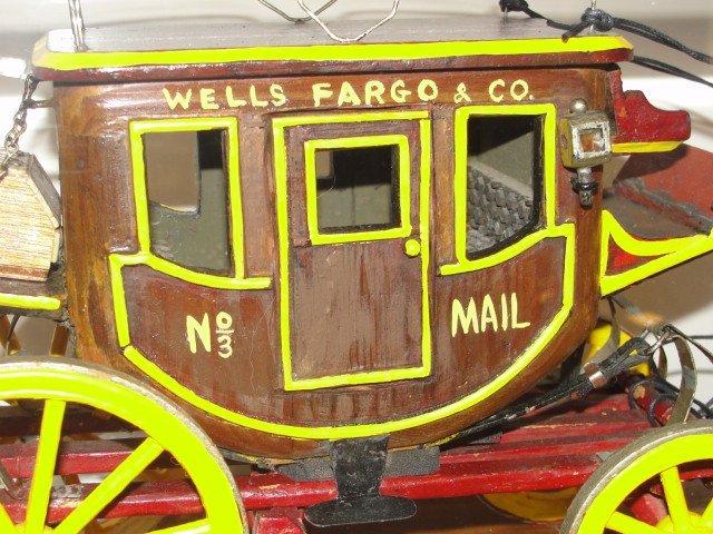 Wells Fargo Overland Stagecoach Model In Case - 3