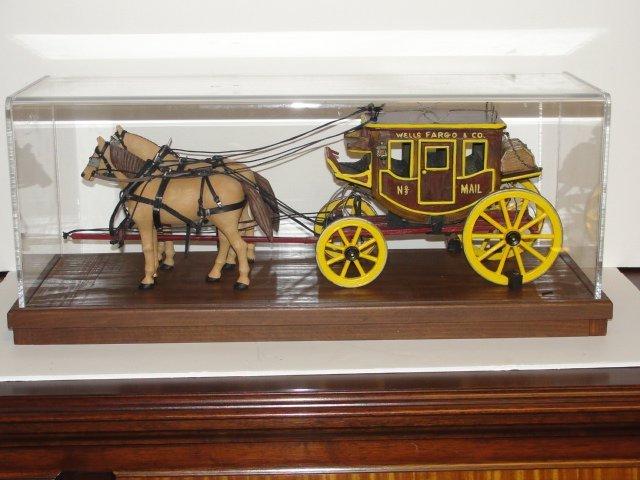 Wells Fargo Overland Stagecoach Model In Case - 6