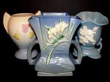 Roseville Hull  Weller Pottery Vases