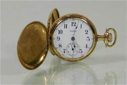 Illinois Watch Company Ladies Gold Pocket Watch