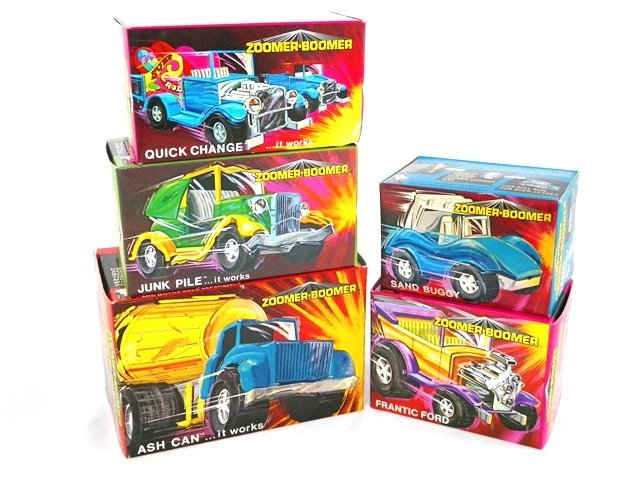 5- Topper Zoomer Boomer Vehicles w/Boxes