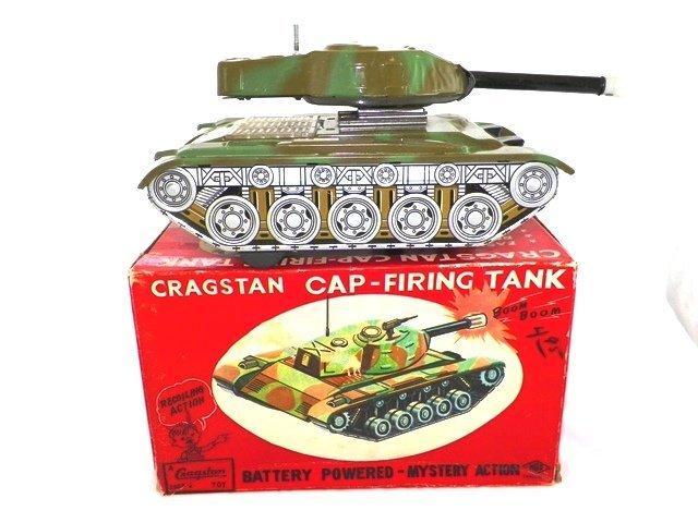 Cragstan Battery Operated Cap Firing Tank w/Box