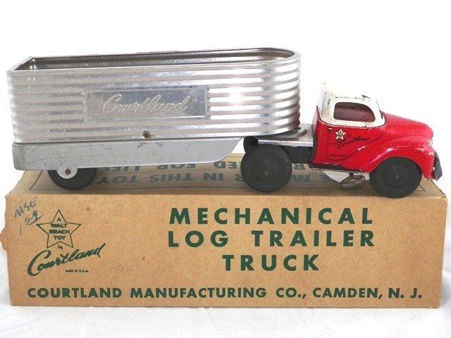 Courtland Tin Wind-Up Grain Hauler Truck w/Box
