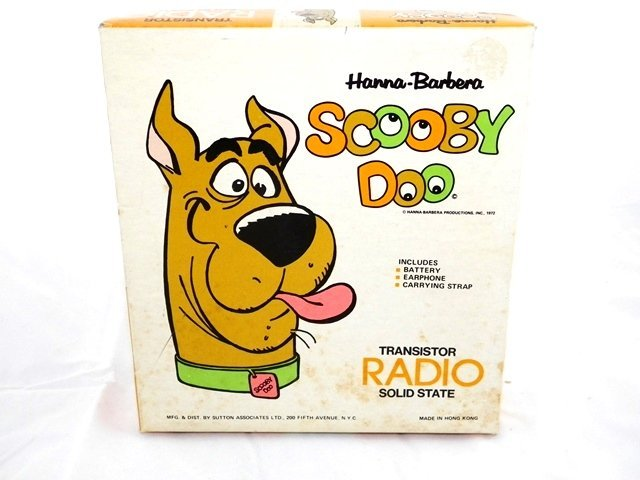 Sutton Hanna Barbera SCOOBY DOO Transistor Radio MIB