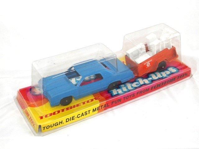 Tootsie Toy Hitch-Ups Car and Uhaul Trailer MIB