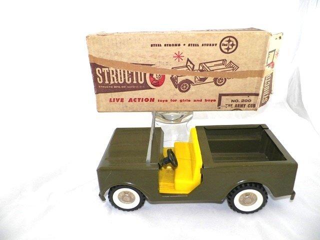 Structo Pressed Steel #200 THE ARMY CUB w/Box