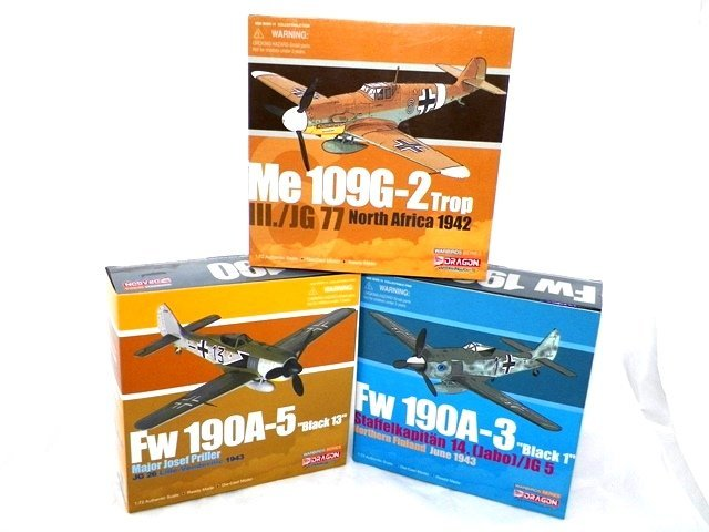 3- Dragon Diecast WWII AIRPLANES MIBs