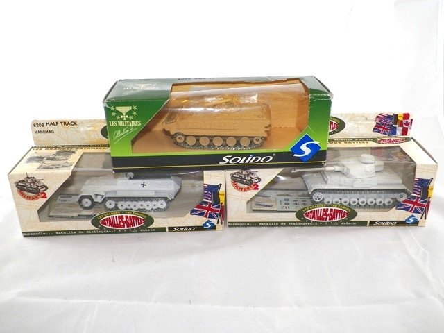 3- SOLIDO Diecast MILITARY VEHICLES MIBs