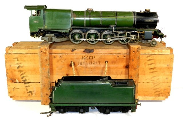 "32""  1890's Large Scale French Steam Engine w/Tender"