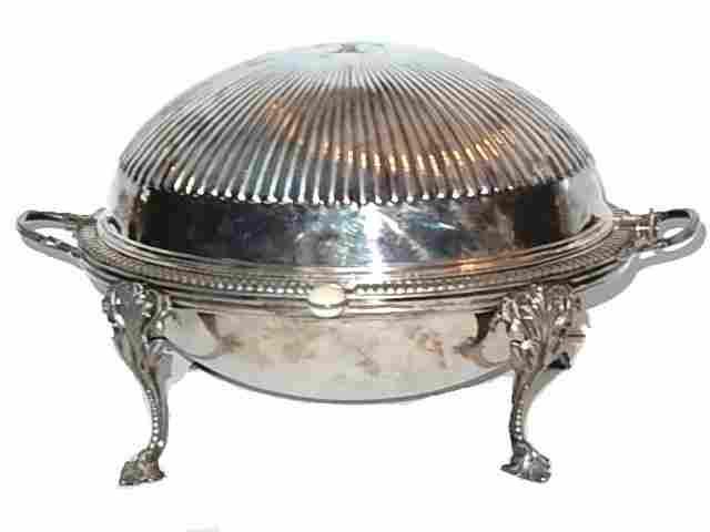 English Silver Plate Breakfast Warmer Server