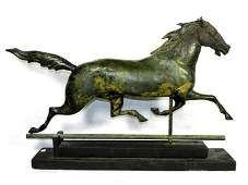 Molded Copper Horse Weathervane, J.W. Fiske