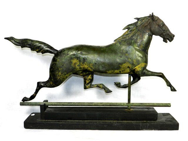 Molded Copper Horse Weathervane, J.W. Fiske