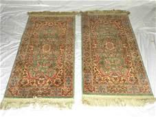 Pair of Small Karistan Persian Wool Rugs