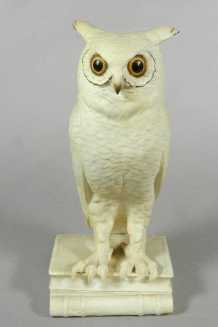 Boehm Owl Bookend Porcelain Figure