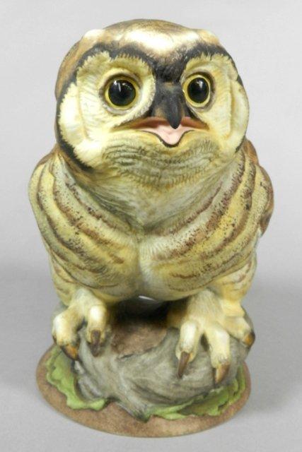 Boehm 'Fledgling Great Horned Owl' Porcelain Figure