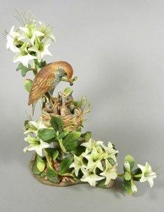 Boehm 'Wood Thrushes' Porcelain Figure