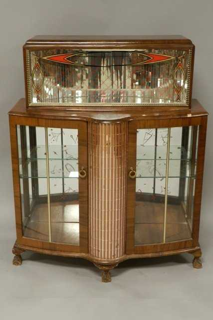 1950s Art Deco Ball And Claw Foot Liquor Cabinet