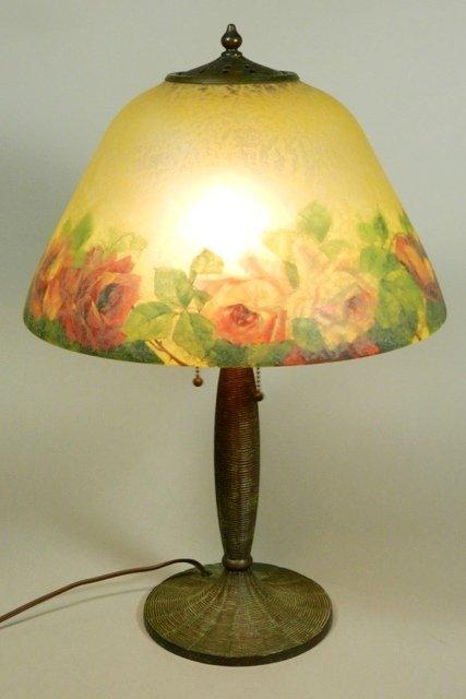 Signed Handel Reverse Painted Lamp