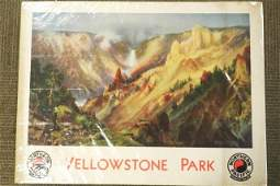 1939 Northern Pacific Yellowstone Park Poster