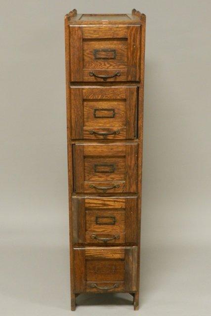 Weiss 5 Drawer Oak Filing Cabinet