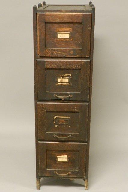 4 Drawer Oak Filing Cabinet