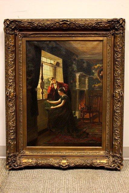 William Verplanck Birney Oil on Canvas (American