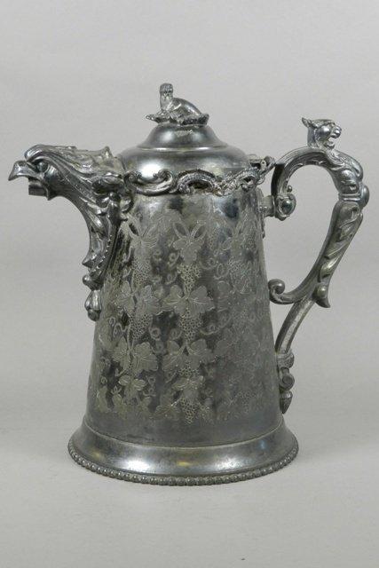 19th C. E. Kaufmann Philad. Silver Plate Pitcher
