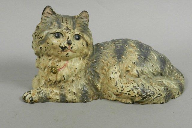 Hubley Cast Iron Fireside Cat Doorstop