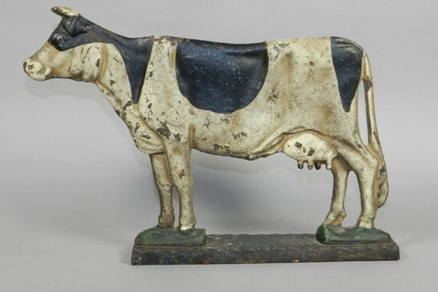 Antique Cast Iron Dairy Cow Doorstop - 2