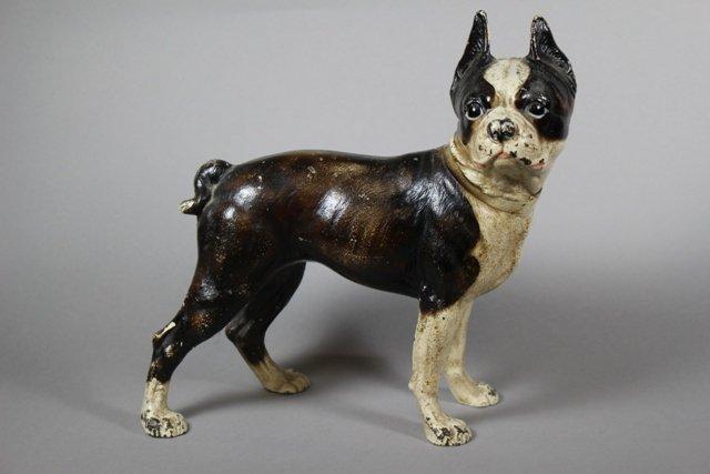 Hubley Cast Iron Boston Terrier Doorstop