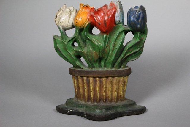 Albany Foundry Cast Iron Tulip Flower Doorstop