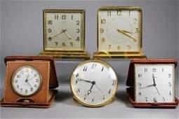 5 Desk Clocks ~ Tiffany & Co, Cowell & Hubbard