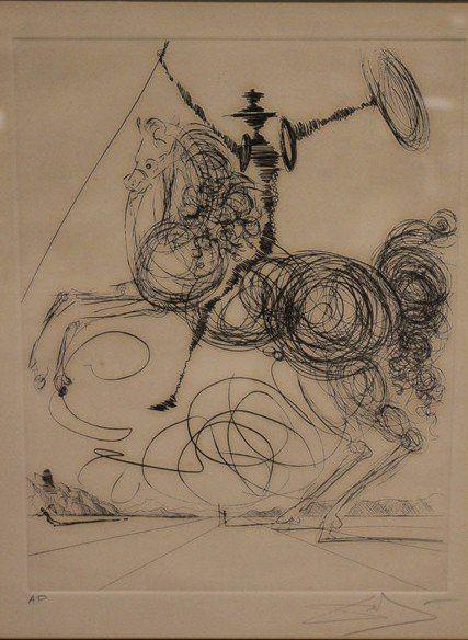 """Salvador Dali Artist Proof """"Don Quixote II"""" Horseman"""