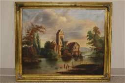 20th C. American Oil on Canvas aft. Hudson River School