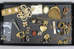 Vintage Jewelry Cameo Jewelry and Pearl Necklace Lot