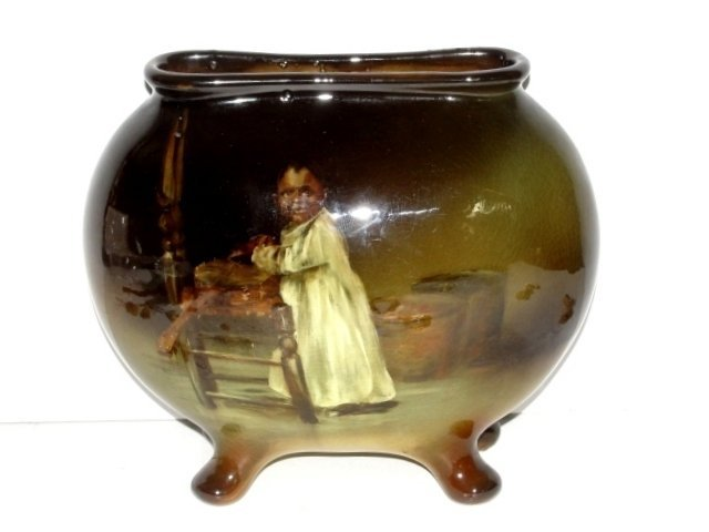 Rare Weller Louwelsa Black Boy Pillow Vase