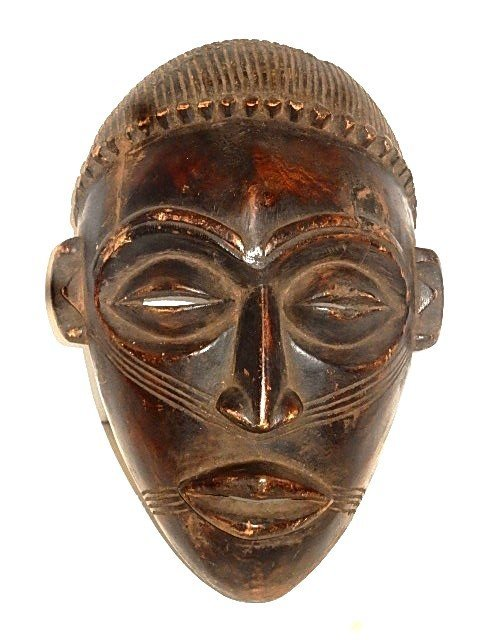 Chokwe African Tribal Mask Congo Zaire 20th. C.