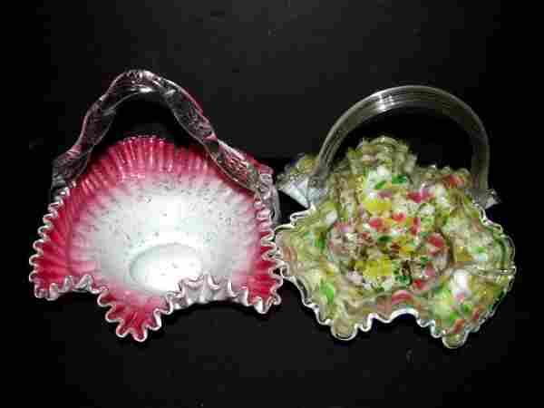 Two Fine Victorian Brides Baskets - Bowls