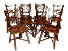 Romweber Viking Horse Head Chairs Poker Set