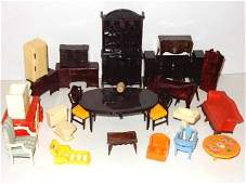 Collection Of Plastic Doll House Furniture
