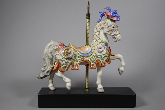 "Limited Edition Cybis Porcelain ""Charger ""Horse"