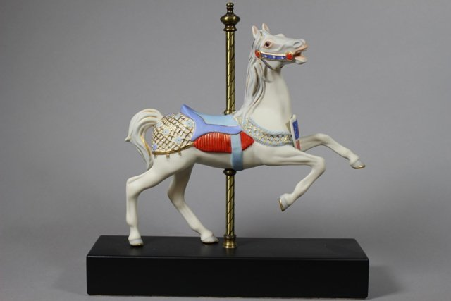 "Cybis Carousel Horse ""Patriot"" Numbered #104"