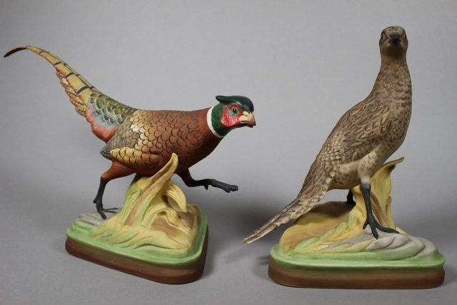 Pair of Boehm Ringneck Pheasants Figurines