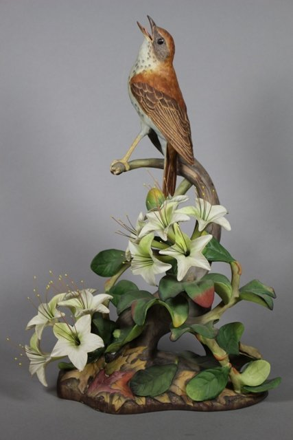 Boehm Porcelain Wood Thrushes Figurine