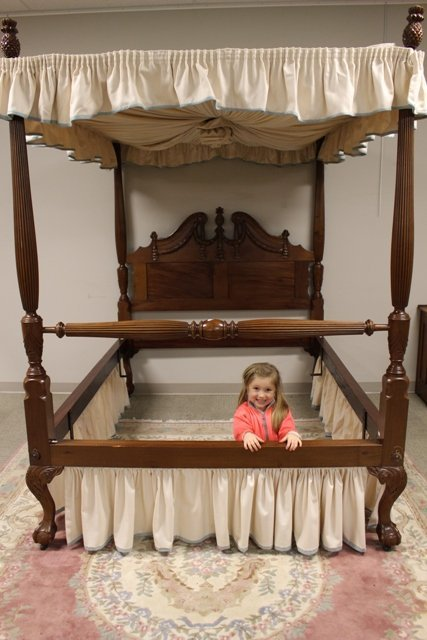 19th C. Victorian Tester Canopy Bed